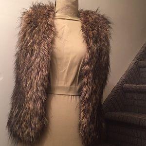 Silence and Noise Faux Fur Vest